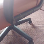 Metal wire coming out of office chair in our room