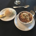 Soup: French Onion Soup (many others to choose from). Served with a tender biscuit.