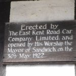East Kent Road Car Co Ltd building plaque