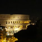 View of the Colosseum from the roof top terrace