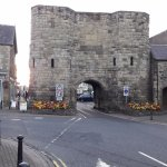 The Alnwick Arch viewed as you leave the B & B