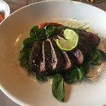 Tuna in black pepper.