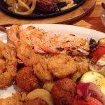 Shrimp trio & Steak w/onions