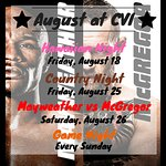Coming up in August at CVI!!!