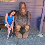 Harrison is home of big foot so had to have photo lol