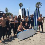 Women empowerment through surfing in Santa Monica.