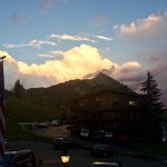 Sunset over Mt Crested Butte - view from the Inn