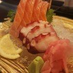 Shake and Tako (Salmon and Octopus) sashimi