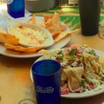 Ahi Nachos & hot crab dip