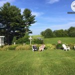 Take in the surroundings and relax in Adirondack chairs