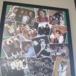 A family collage that's on the wall