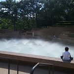Relax by the fountain. Enjoy the spray on a hot summer day.