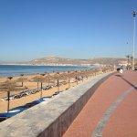 The boardwalk in Agadir - direct access from Hotel Agadir Beach Club