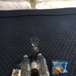 Treats on our bed upon check-in!