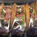 Wrapped prepared baguettes