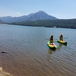 paddle boarding on Williams Creek Reservoir