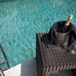 Have a nice Champagne while relaxing with a nice view at our Infinity Pool Area