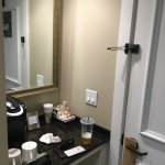 Coffee area near door to the room