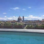 View of the Duomo from the pool.
