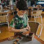 Wooden puzzles feel good and are fun to play.
