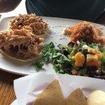 Tacos Del Mar with halibut