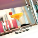 Indulge in a delicious cocktail in the Glasshouse Bar