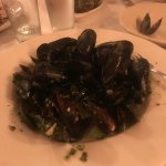 The mussel's Pistou grande were delicious & big enough to share with my 21 yr old son. The bread