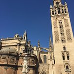 The church and giralda from the plaza