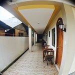 Non-beachfront family rooms hallway and balcony