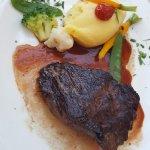 Onglet de bœuf black Angus « Irlandais » / jus à la sauge / pommes de terre purée