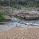 Water Erosion on stone and rock - water flowing, but very low when this photo was taken