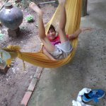 Hammocks away!! A very popular form of relaxation at cafes in the Mekong