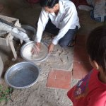 We visited a rice mill and saw how rice as made