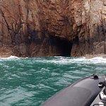 Exploring a cave
