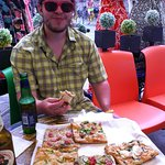 My PhD student was certainly enjoying the pizza and beer
