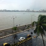 View of the queen's necklace at Marine Drive from a sea-facing room