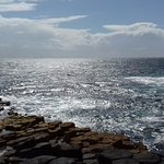 The view seawards from Fingal's Cave