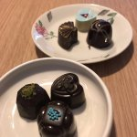 A selection of their exquisite chocolates