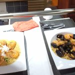 The Shrimp curry and Seafood pasta