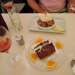 Homemade dessert (carrot cake & apple crumble)