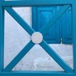 Door with a view in santorini village