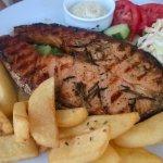 Beautiful grilled salmon