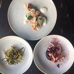 Plaice, Courgette, Squid. Yum
