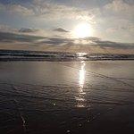 Plaża przed zachodem
