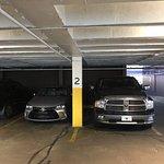 Parking garage is CRAMPED!