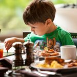 Children 5 and under eat free in Tesoro Cove for breakfast with each paying adult.