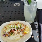 Fish Tacos and refreshing drink