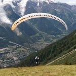 Décollage face au Mont Blanc