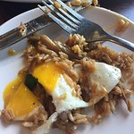 Duck Fried rice with soft egg on top - DELICIOUS!