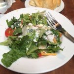 This is the house salad with ranch dressing.